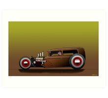 Hot Rod Jalopy Art Print