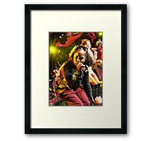 Vida @ Live Showcase.  Framed Print