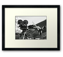 Mitchell movie camera DC-3 Framed Print