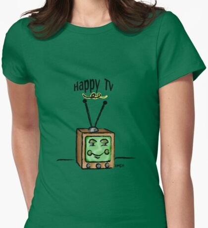 Happy TV~(C) Womens Fitted T-Shirt