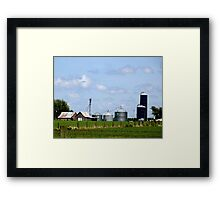 Iowa Farmlands Framed Print