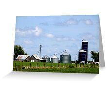 Iowa Farmlands Greeting Card