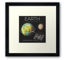 Planet Earth Infographic NASA Framed Print