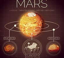 Planet Mars Infographic NASA by Neil Stratford