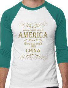 Pig in America Men's Baseball ¾ T-Shirt