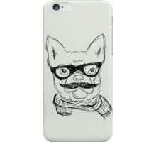 Hipster French Bulldog  iPhone Case/Skin