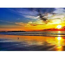 Sizzling Sunrise at Hampton Beach Photographic Print