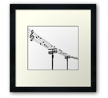 Birds on the wires Framed Print