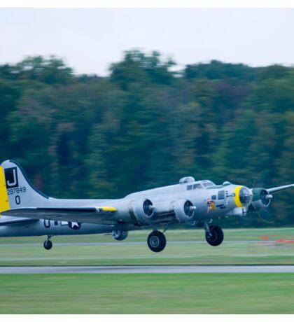 B-17 Bomber Take Off Sticker