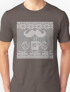 Santa's Stache Over Midnight Snack Knit Style Unisex T-Shirt