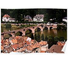 Heidelberg in Water Colors Poster