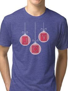 Red and Pink JOY Tri-blend T-Shirt