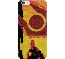 Half Life Metro Police Propaganda  iPhone Case/Skin