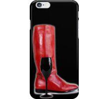 Wine Boot iPhone Case/Skin