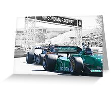 Vintage Formula One 'F1' Racecars Greeting Card
