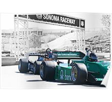 Vintage Formula One 'F1' Racecars Poster