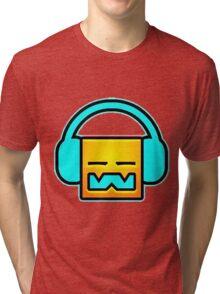 Geometry Dash headphones Tri-blend T-Shirt
