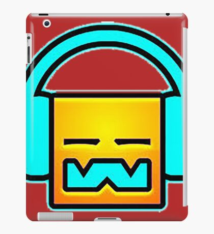 Geometry Dash headphones iPad Case/Skin