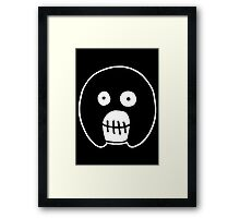 The Mighty Boosh – Black Mask Framed Print