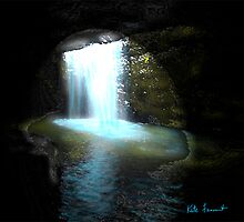 Abstract Landscape Waterfall by Kate Farrant by kreativekate