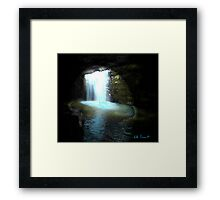 Abstract Landscape Waterfall by Kate Farrant Framed Print