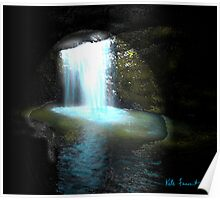 Abstract Landscape Waterfall by Kate Farrant Poster