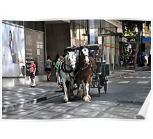 Melbourne City Streetscape Poster