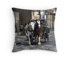 Melbourne City Streetscape Throw Pillow