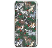 Green Holly Hounds iPhone Case/Skin