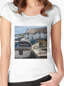 Tinker Taylor Cottage Sennen Cove Cornwall Women's Fitted Scoop T-Shirt