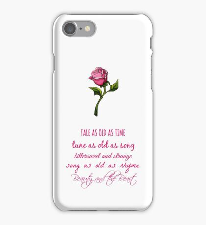Beauty and the Beast Lyrics iPhone Case/Skin