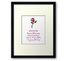 Beauty and the Beast Lyrics Framed Print