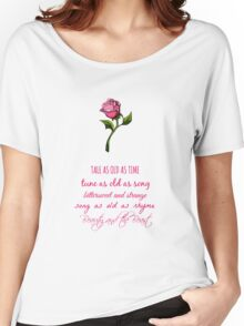 Beauty and the Beast Lyrics Women's Relaxed Fit T-Shirt