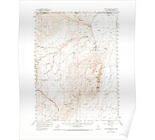 USGS Topo Map Nevada Jordan Meadow 321024 1959 62500 Poster