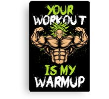 Broly Workout Canvas Print