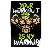 Broly Workout Poster