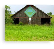 Quilt Barn Crest in Southeastern Iowa Canvas Print