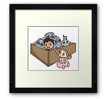 A Box of Trolls Framed Print