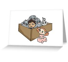 A Box of Trolls Greeting Card