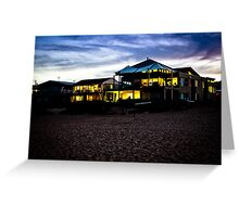 Wamberal Beach houses at Night Greeting Card