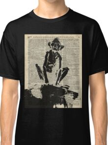 Stencil Of Gollum,Smeagol Over Old Dictionary Page Classic T-Shirt