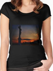 The last moments of life Women's Fitted Scoop T-Shirt