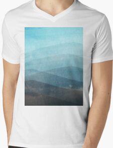 Aquamarine Mens V-Neck T-Shirt