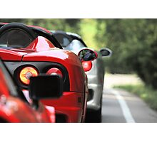 Yes, Ferrari's do have EYES on the back of their heads! Photographic Print