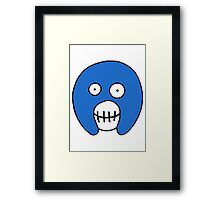 The Mighty Boosh – Blue Mask Framed Print