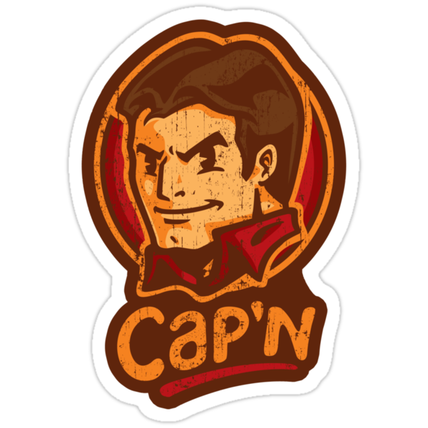 Cap'n! - STICKER by WinterArtwork