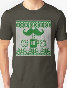 Santa's Stache Over Green Midnight Snack Knit Style T-Shirt