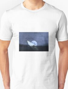 Across The Sea A Pale Moon Rises T-Shirt