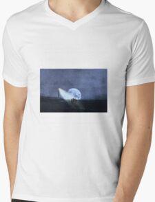 Across The Sea A Pale Moon Rises Mens V-Neck T-Shirt