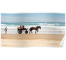 Clip Clop - horse rides on the beach Poster